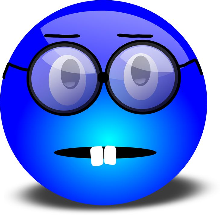 Blur clipart warehouse Smiley Nerdy Blue Glasses 79