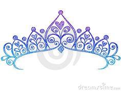 Blur clipart princess crown Tiara Silhouette Blue67 Princess Crowns