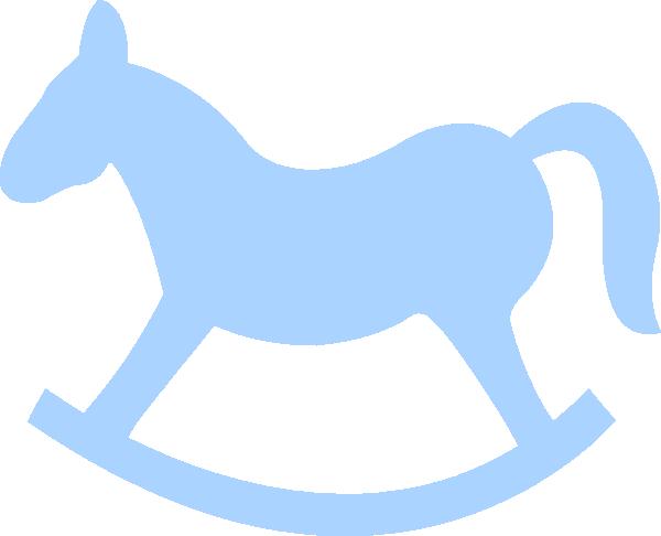Blur clipart rocking horse Outline clipart Cliparts Horse Blue