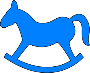 Blur clipart rocking horse Free Clipart Cliparts Horse Blue