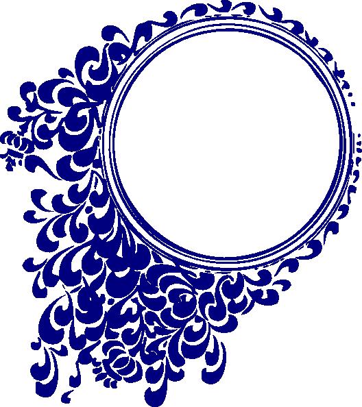 Blur clipart round frame Clker Blue art Download vector