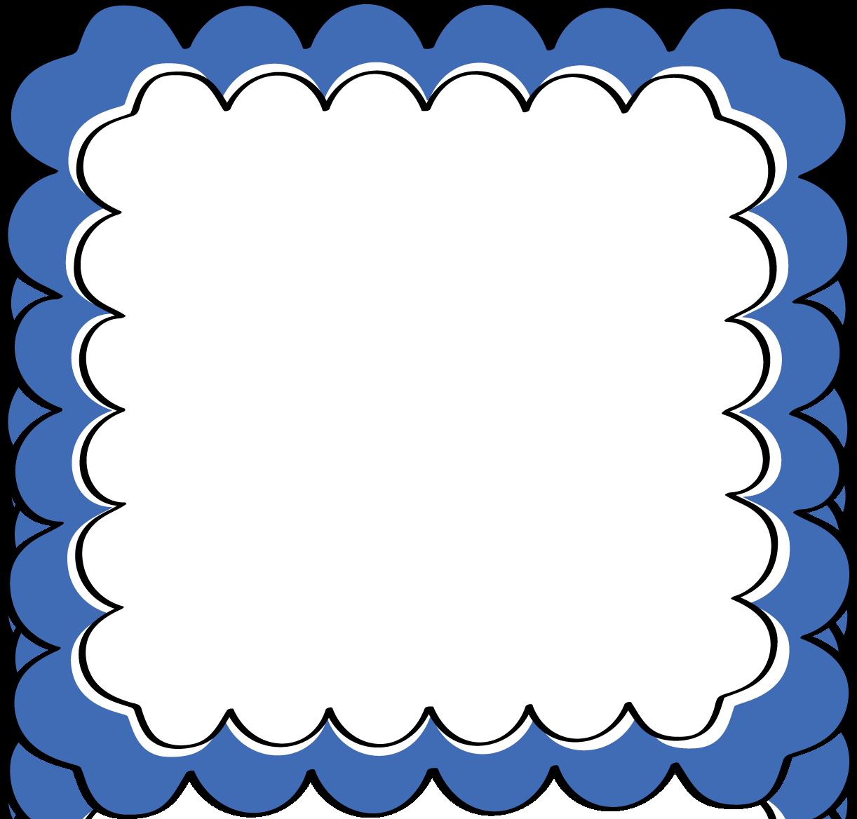 Blur clipart round frame Blue Blue Zone Square Clipart