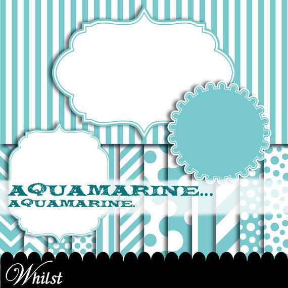 Blur clipart round frame Aqua  chevron Blue clip