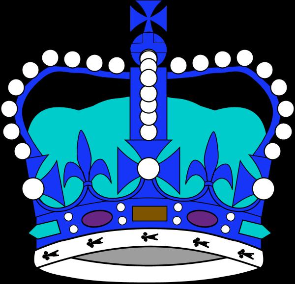 Blur clipart royal crown Clipart Blue royal art clip
