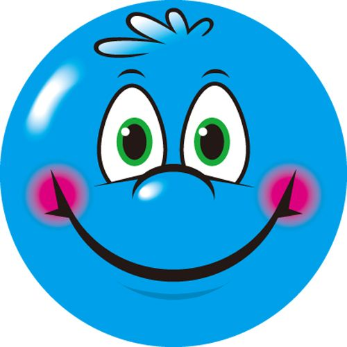 Blur clipart smile Images BLUE on Stickers SMILEY