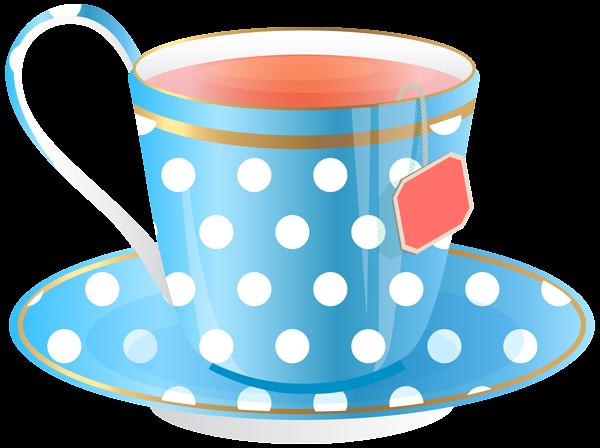 Teacup clipart transparent Blue Image & Tea ~