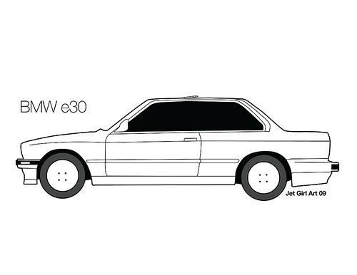 BMW clipart Bmw e30 clipart Bmw clipart