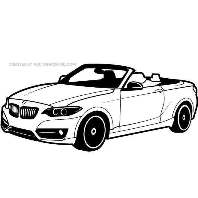 Drawn bmw lowrider car Vectors  BMW car a