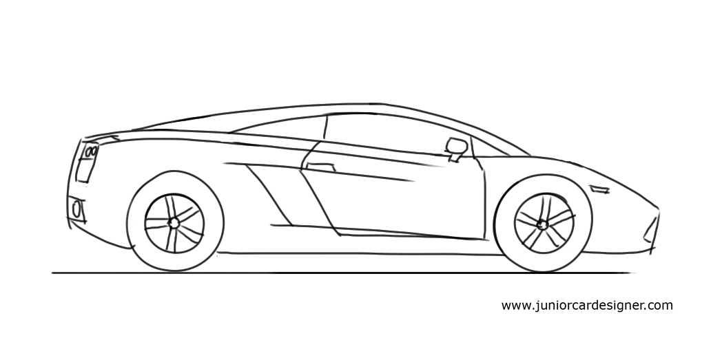 Drawn car lamborghini #6