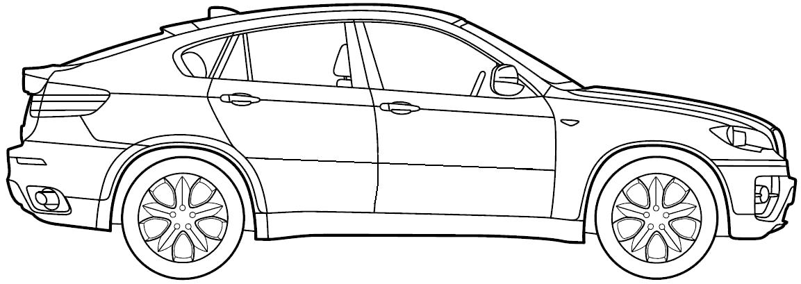 BMW clipart suv Hd clipart hd clipart x6