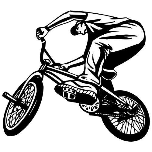 BMX clipart VINYL  about RIDING art