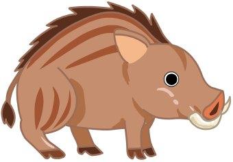 Boar clipart #10