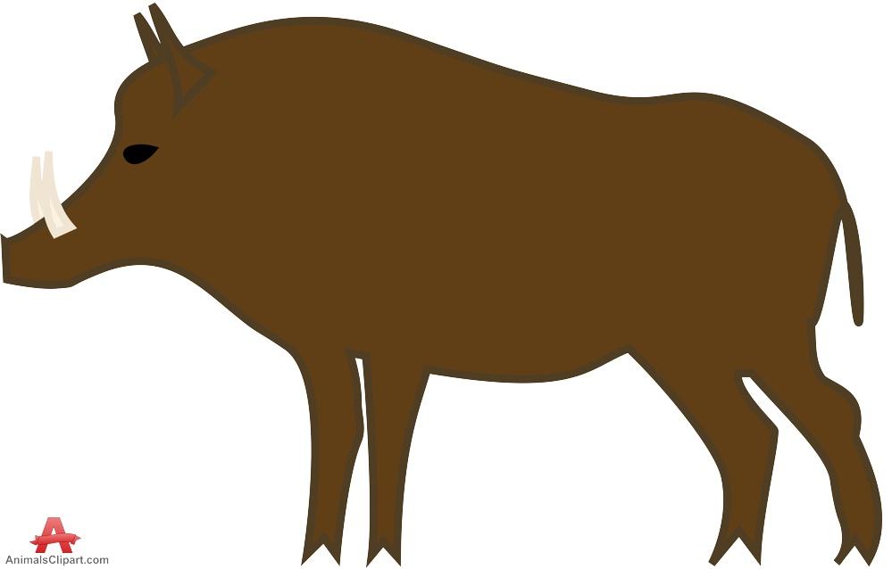 Boar clipart #13