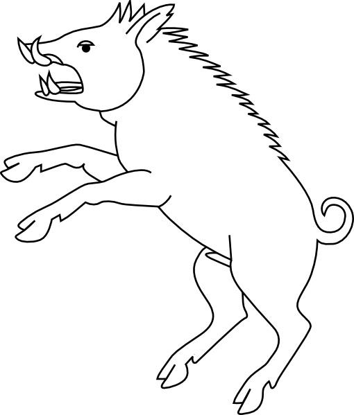 Boar clipart #12