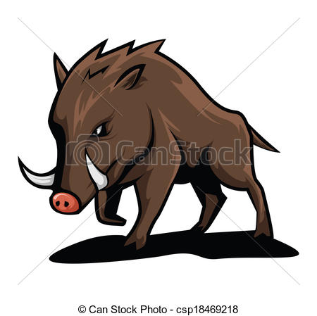 Boar clipart #5