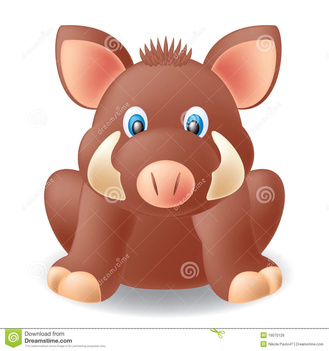 Boar clipart cute Stock collection Sitting pig clipart