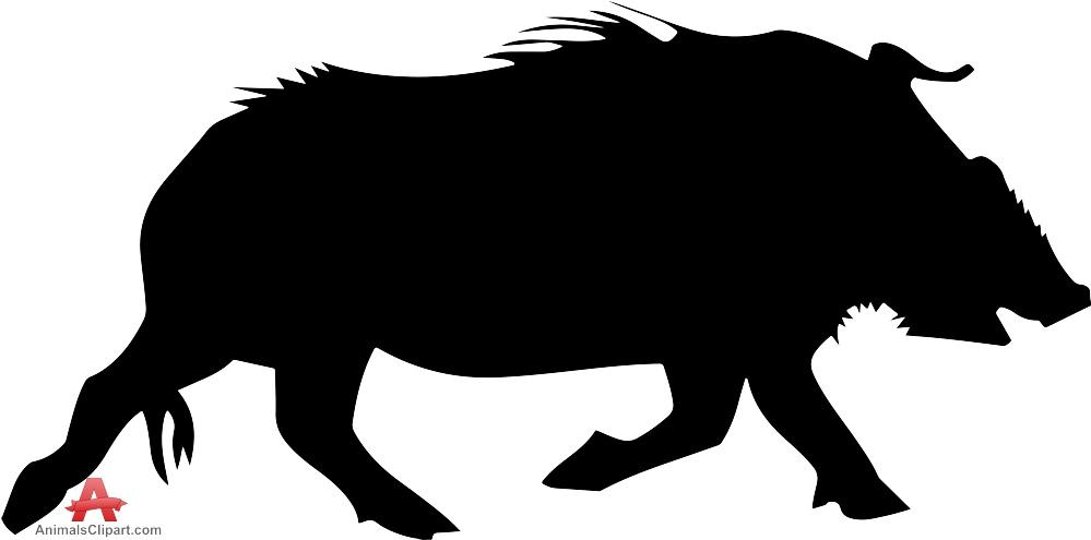 Boar clipart warthog Wild Design Running  Pig
