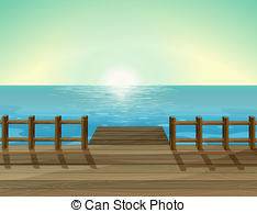 Boardwalk clipart Port of a Illustration a