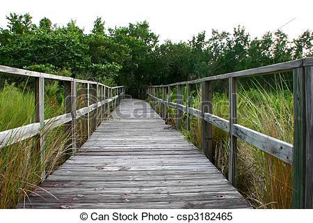 Boardwalk clipart bridge Stock long Photo Florida