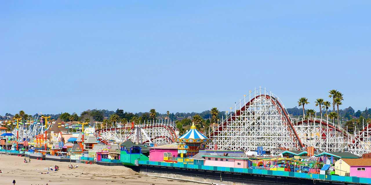 Boardwalk clipart family fun California: California Cruz Beach Santa