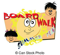 Boardwalk clipart fun time Summer Illustrations time Boardwalk with