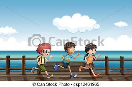 Boardwalk clipart kid fun  Vector csp12464965 Kids Clip