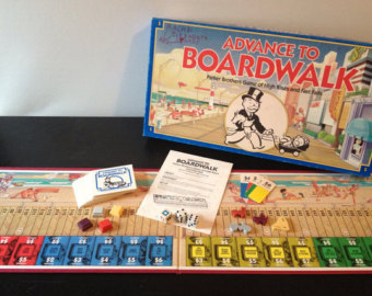 Boardwalk clipart outdoor game Parker Advance Vintage 1980s advance