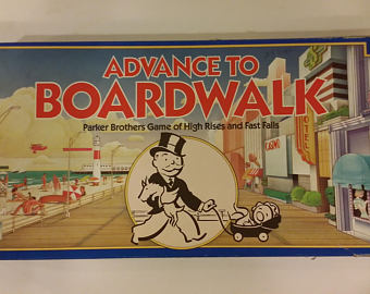 Boardwalk clipart outdoor game Board 0014 Vintage advance Etsy
