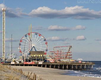 Boardwalk clipart pier Boardwalk Seaside wall art Roller