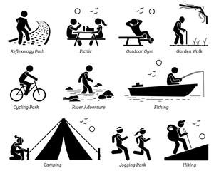 Boardwalk clipart recreational activity Path outdoor Pictogram Lifestyle recreation