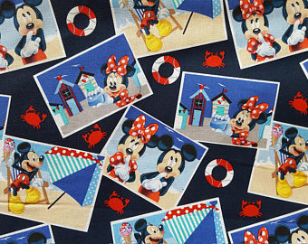 Boardwalk clipart team game Cotton by Fabric Sold Mickey