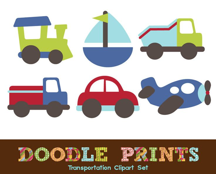 Boat clipart airplane Digital Printable Car Scrapbook Digital