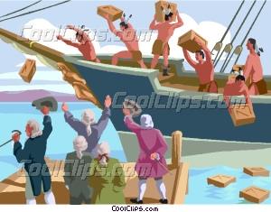 Boat clipart boston tea party Tea Party Party Clip Tea