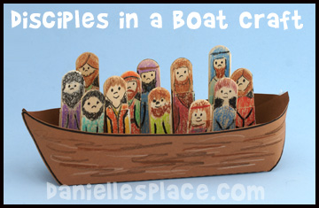 Boat clipart disciples Www Craft Craft a crafts
