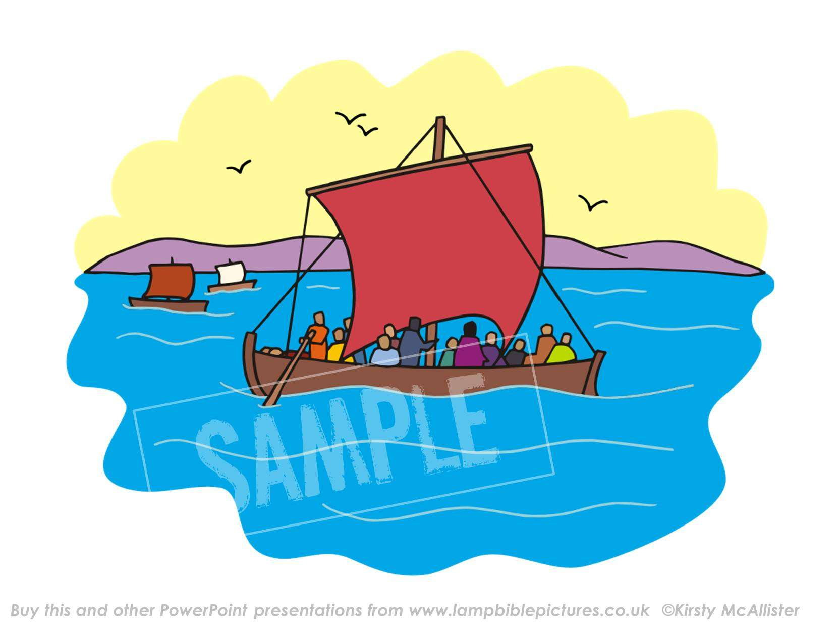 Boat clipart disciples The in Pictures his Jesus