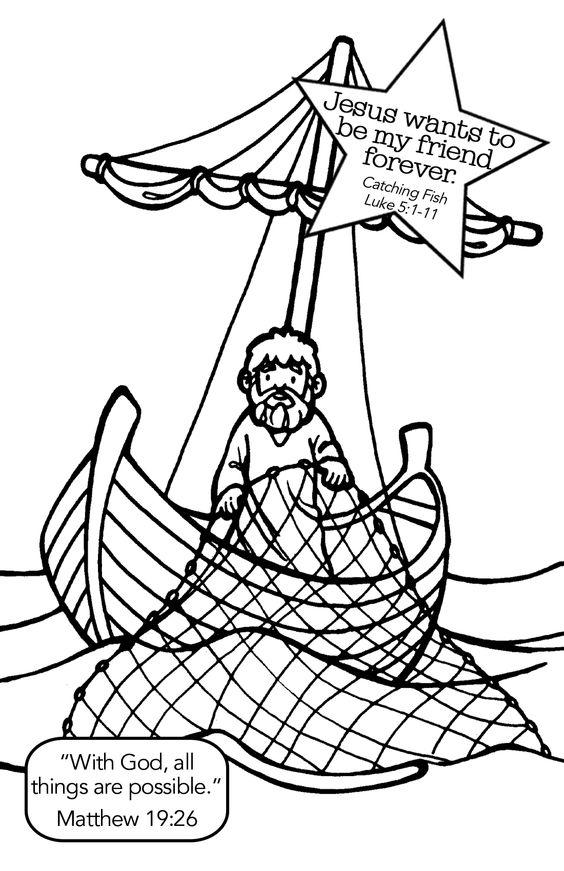 Boat clipart disciples Row Jesus Media fish Cartoon