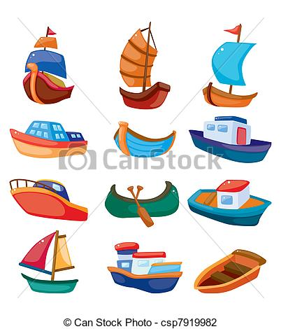 Boat clipart illustration Boat Vector boat cartoon icon