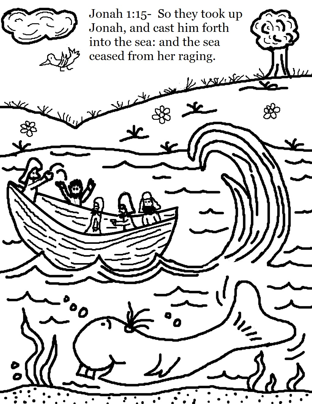 Boat clipart jonah Jonah Coloring Pages Being Activities