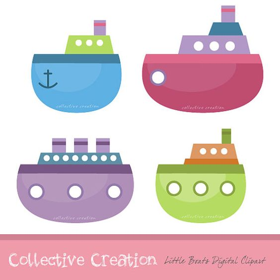 Boat clipart little boat Scrapbooking Paper for Digital Crafts
