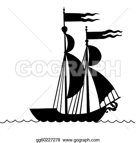 Boat clipart old time Illustration Drawing Clipart of the