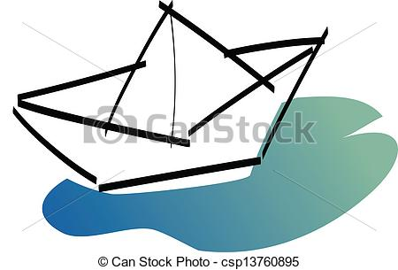 Boat clipart paper boat Of paper EPS Search csp13760895