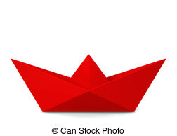 Boat clipart paper boat Paper on background illustration Stock
