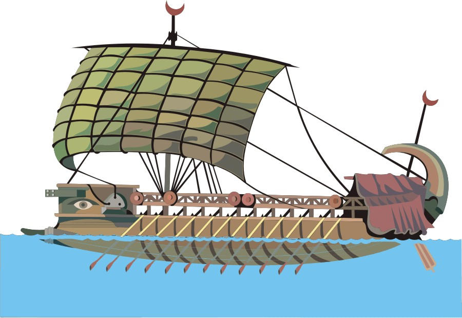 Boat clipart phoenician Commerce 1 war galleys Part