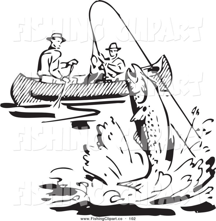 Black & White clipart fishing boat White a shop images best