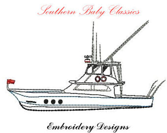 Boat House clipart saltwater fishing Bean Instant Saltwater Embroidery File