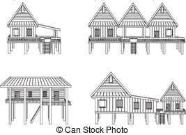 Thai clipart thai house Illustration vector house  Vector