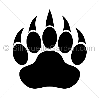 Paw clipart silhouette Print Paw Print Silhouette Bear