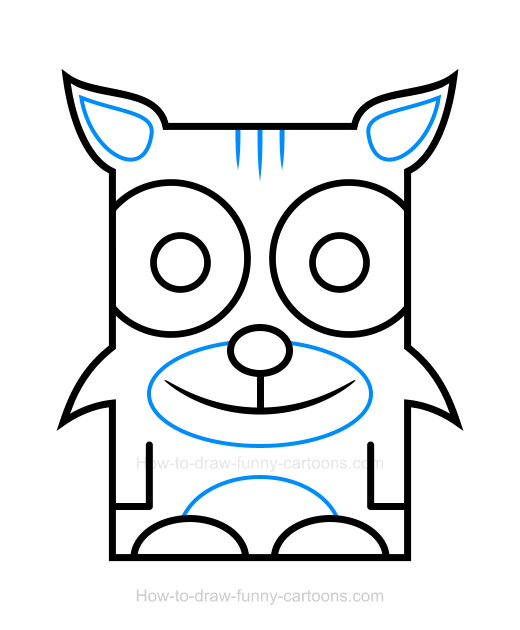Bobcat clipart blue Bobcat Draw Clipart How to