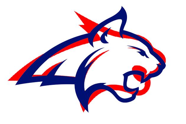 Bobcat clipart blue In Logo in MSU red