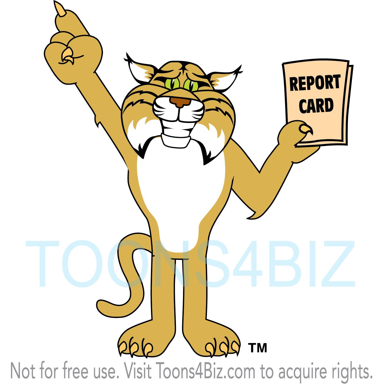 Bobcat clipart blue Clipart clipart Bobcat mascot photo#22